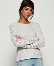 Superdry Womens Lace Trim Long Sleeve Top