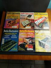 Lot 6 Vintage 1973 Radio Electronics Magazine Feb Mar Apr May June July Computer
