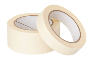ROLLS OF MASKING TAPE 50MM / 25MM DIY PAINTER PAINTING PROTECTION