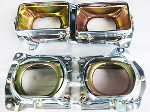 With for DATSUN  720 HEAD LAMP HOUSING LH & RH 4 PCS.  (si022)