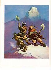 "1975 full Color Plate ""Snow Giants"" by Frank Frazetta Fantastic GGA"