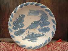 RARE LONDON BLUE DASH DELFT DISH 1680 DELFTWARE FAIENCE MAIOLICA 17EME XVII