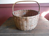 EARLY ANTIQUE PRIMITIVE BASKET - NICE ROUND SHAPE