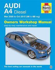 HAYNES SERVICE & REPAIR MANUAL 6300 Audi A4 Diesel (Mar '08 - Oct '15) 08 to 65