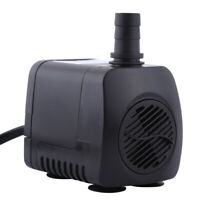 Water Pump Feature Fountain Outdoor Completely Submersible Garden Fish Pond Sump