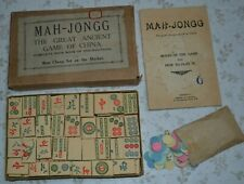 Mah-Jongg The Great Ancient Game of China by Inskipp & Wastell. 1950s Game