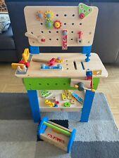 HAPE Werkbank mit Zuberhör und Werkzeugkasten, Holzspielzeug, ca. 3 - 8 Jahre