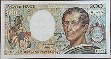 Billet 200 francs Montesquieu 1987 FRANCE  F.053