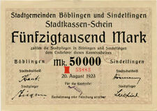 Germany 50.000 Mark 1923 Boblingen-Sindelfingen 53883