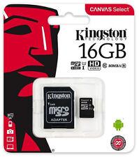 Kingston 16GB micro SD Karte SDHC Class 10 UHS-I 80MB/s Speicherkarte DE/OVP