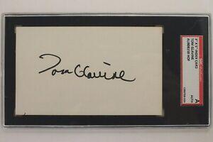 Tom Glavine Atlanta Braves HOF Autographed 3x5 Index Card Signed SGC AUTHENTIC