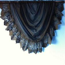 """STUNNING,MICHELLE WOVEN VOILE SWAGS TRIMMED WITH 6"""" JACQUARD LACE IN TWO SIZES."""