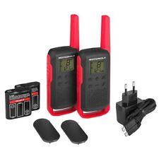 Motorola T62 TALKABOUT Rot-Schwarz PMR/Babyphone Funkgeräte (Reichweite: 8km)