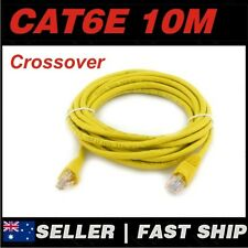 1x 10m Cat 6 Cat6 Crossover Yellow Premium Ethernet Network LAN Patch Cable Lead