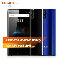"5.5"" Android 7.0 OUKITEL K3 4G Smartphone 4GB+64GB Móvil Huella Dactilar 6000mAh"