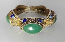 Old chinese bracelet silver jade enamel. vecchio bracciale cinese argento giada