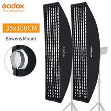 2PCS Godox 35*160cm Bowens Mount Strip Honeycomb Grid Softbox for Studio Flash