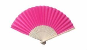 Hot Pink Silk Fans Asian Beach Garden Wedding Favors