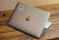"3x Apple Old Retro Rainbow Logo Sticker for 12"" Macbook and 13"" 15"" Macbooks Pro"