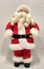 "Cracker Barrel Fabric Vintage-Style Santa Figure Realistic Beard 12"" Tall Euc"