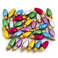 100 FESTIVE Light bulb Beads Christmas Holiday Jewelry Making Earrings Bracelets