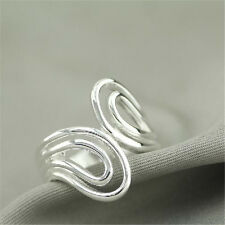 925 Solid Sterling Silver Plated Women/Men NEW Fashion Ring Gift SIZE OPEN HJ196