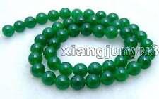 "SALE High quality Round 8mm green jade gemstone beads strands 15""-los368"