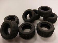 Bulk Lot Lego Part No.6578: Black Tyre 30.4 x 14 VR, Qty x 8