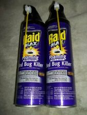 New Lot of 2 Raid Max Foaming Crack & Crevice Bed Bug Killer 17.5 Fl Oz Spra