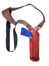 Vertical  Shoulder Holster Genuine leather  Fits All 9  mm barrel Brown
