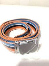 Lands End Belt For Men Size Large/ Extra Large Orange Blue Color