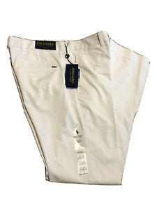 Polo Ralph Lauren Golf Pants Men's White Tailored Fit Flat Front 32x30 NWT $98