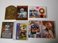7 FOOTBALL CARD LOT - AUTROGRAPH & GAME USED