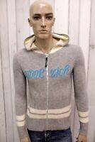 WOOLRICH Uomo Taglia S Maglione Lana Sweater Pullover Maglietta Maglia Grigio