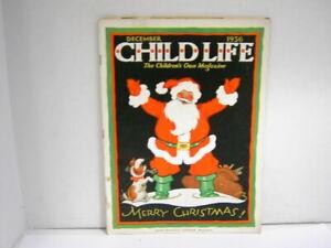 Vintage Child Life Children's Magazine December 1936 Holiday Issue Original