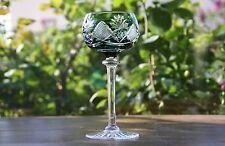 Cristal  Val Saint Lambert  Berncastel  Roemer - Verre à vin du Rhin  -  Vert