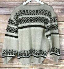 CANDIDA BING HAND KNITS Vintage Womens' Beige Crewneck Sweater Size Large?