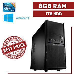 PC Rechner Komplett Neu Intel Core i3-4gen. 8GB DDR3 1TB Windows 10**