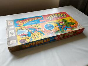 Vintage Superman / Superboy 2 in 1 Board Game Parker Brothers 1967 Original