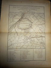 34 - CARTE MAP PLANS Campagne ITALIE 1745 & 1746 ATTAQUES D'ALÉXANDRIE 1775