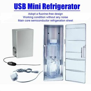Mini Car Refrigerator USB Fridge Cooler Freezer Small Portable Beverage Travel