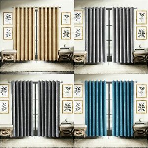 Thermal Blackout Eyelet Ring Top Bedroom & Kitchen Small / Short Window Curtain