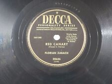 US 78 rpm Florian ZaBach: April in Portugal / Red Canary, Decca 28646