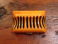 Vintage Bakelite Butterscotch Amber Carved Chunky Charm Mid Century Piece TESTED