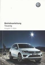 VW TOUAREG  2 Betriebsanleitung 2017 Bedienungsanleitung Handbuch Bordbuch BA