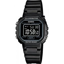 Casio LA20WH-1B Ladies Black Digital Watch with LED Light 5 Year Battery