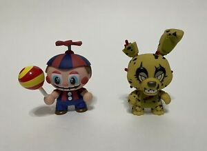 Lot Of 2 Funko Mystery Minis; Five Nights at Freddy's; Balloon Boy & Springtrap