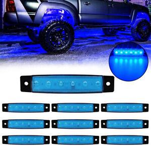 Blue LED Rock Light 10 pods Lights for Off Road Truck Car ATV SUV Under Wheel