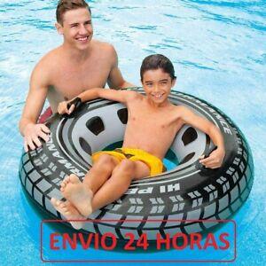 RUEDA NEUMATICO Flotador hinchable piscina agua INTEX 114 cm Env.24h