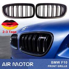 FÜR BMW 5ER F10 F11 SPORT KÜHLERGRILL NIEREN DOPPELSTEG GLANZ SCHWARZ DE